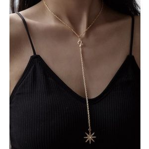 JUST IN‼️Rhinestone Engraved Star Lariat - Jewelry